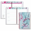 At-A-Glance Paper Marbling Wirebound Planner - Julian - Weekly, Monthly, Daily - 1 Year - January 2017 till December 2017 - 1 Week Double Page Layout - Wire Bound - Assorted - Bookmark Ruler, Tabbed,