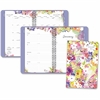 "At-A-Glance Secret Garden Weekly/Monthly Desk Planner - Julian - Monthly, Weekly, Daily - 1.1 Year - January 2017 till December 2017 - 1 Week, 1 Month Double Page Layout - 5.50"" x 8.50"" White - Wire B"