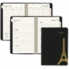 "At-A-Glance Paris Weekly/Monthly Planner - Julian - Weekly, Monthly, Daily - 1.1 Year - January 2017 till January 2018 - 1 Week, 1 Month Double Page Layout - 5.50"" x 8.50"" - Wire Bound - Assorted - No"