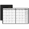 At-A-Glance Classic Monthly Planner - Julian - Monthly, Daily - 1.1 Year - January 2017 till January 2018 - 1 Month Double Page Layout - Wire Bound - Simulated Leather - Black - Memo Section, Address