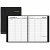 At-A-Glance Weekly Appointment Book - Weekly, Daily, Monthly - 1.1 Year - January 2017 till January 2018 - 7:00 AM to 8:45 PM, 7:00 AM to 5:30 PM - Wire Bound - Simulated Leather - Black - Address & P