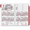 "At-A-Glance Burkhardt's Day Counter Calendar - Julian - Daily, Monthly - 1 Year - January till December - 8:00 AM to 5:30 PM - 1 Day Double Page Layout - 4.75"" x 7.38"" White - 2-ring - Desk"