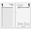 "At-A-Glance Loose-leaf Daily Desk Calendar Refill - Daily, Weekly, Monthly - 1 Year - January 2017 till December 2017 - 3.50"" x 6"" White - 2-ring - Desk"