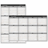 At-A-Glance 2-sided Erasable Yearly Wall Calendar - Julian - Daily, Monthly, Yearly - 1 Year - January 2017 till December 2017 - White - Wall Mountable - Black - Erasable, Double-sided, Laminated, Wri