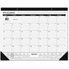 At-A-Glance Classic Monthly Desk Pad - Julian - Daily, Monthly - 1 Year - January 2017 till December 2017 - 1 Month Single Page Layout - White - Desk Pad - Poly - Black - Non-refillable, Reference Cal