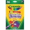 Crayola Erasable Colored Pencils - 3.3 mm Lead Diameter - Thick Point - Assorted Lead - 36 / Each