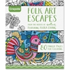 Crayola Folk Art Escapes Coloring Book Coloring Printed Book - Book - 80 Pages