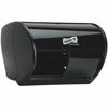 Genuine Joe Solutions Bath Tissue Dispenser - Roll - 2000 x Sheet - Black - Sliding Door