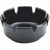 Impact Products Econo Ash Tray - Round - Durable - Plastic - Black