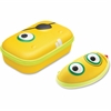"ZIPIT Beast Box Carrying Case for Pencil, Pen, Sunglasses, Eyeglasses - Yellow - Polyester, Nylon - Beast - 3.2"" Height x 8.2"" Width x 5"" Depth"