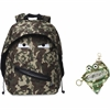 "ZIPIT Grillz Carrying Case (Backpack) for Books, Binder, Clothing, Tablet, Snacks, Bottle, School - Camouflage Green - Polyester - Shoulder Strap - 16.5"" Height x 11.2"" Width x 14.5"" Depth"