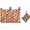 """ZIPIT Colorz Carrying Case (Pouch) for Makeup, Memory Card, Pencil, Pen, Cosmetics, Marker, Crayon, Toy, Stationary, Scissors - Assorted Bright - Polyester, Fabric - Small Bubbles - 5.9"""" Height x 9"""" W"""