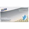 Genuine Joe Standard Industrial Nitrile Gloves - Small Size - Nitrile - Blue - Beaded Cuff, Powder-free, Puncture Resistant, Ambidextrous, Textured - 1000 / Carton