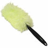 "Genuine Joe Microfiber Handheld Duster - 10"" Length Handle - 12 / Carton - MicroFiber - White, Green"