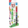 The Pencil Grip Kwik Stix 12-color Solid Tempera Paint - 12 / Pack - Red, Black, Blue, Yellow, Brown, Green