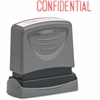"""Xstamper Pre-inked Confidential Title Stamp - Message Stamp - """"CONFIDENTIAL"""" - 0.50"""" Impression Width x 1.63"""" Impression Length - 50000 Impression(s) - Assorted - Rubber - 1 Each"""