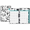Blue Sky Clear Cover Wkly/Mthly Barcelona Planner - Julian - Weekly, Monthly, Daily - 1 Year - January till December - 1 Month, 1 Week Double Page Layout - Twin Wire - Clear - Multi-colored - Tabbed,
