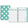 Blue Sky Small Wkly/Mthly Penelope Clear Planner - Small Size - Weekly, Monthly, Daily - 1 Year - January till December - 2 Week Double Page Layout - Twin Wire - Clear, Multicolor - Tabbed, Writable S