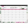 "Blue Sky Dahlia Desk Calendar Pad - Julian - Monthly, Daily - 1 Year - January till December - 1 Month Single Page Layout - 17"" x 11"" - Desk Pad - Multicolor - Writable Surface, Notes Area, Appointmen"