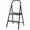 "Louisville Davidson Ladders 2' Steel Domestic Step Stool - 2 Step - 225 lb Load Capacity - 24"" - Gray"