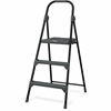 "Louisville Davidson Ladders 3' Steel Type II Step Stool - 3 Step - 225 lb Load Capacity - 36"" - Gray"
