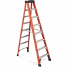"Louisville Davidson Ladders 8 ft Fiberglass IAA Step Ladder - 7 Step - 375 lb Load Capacity - 96"" - Orange"