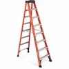 "Louisville Davidson Ladders 8 ft Fiberglass IAA Step Ladder - 7 Step - 375 lb Load Capacity - 96"" - Orange"