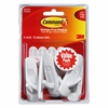 Command Strip Adhesive Hooks - for Home, Office - White - 6 / Pack