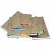 "Jiffy Mailer Padded Mailers - Multipurpose - #0 - 6"" Width x 10"" Length - Flap - Kraft - 250 / Carton - Natural Kraft, Satin Gold"