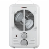 Lorell Portable Ceramic Heater Fan - Ceramic - Electric - Electric - 900 W to 1.50 kW - 2 x Heat Settings - 1500 W - Portable - White