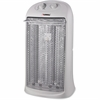 Lorell 2-Setting Portable Quartz Heater - Quartz - 2 x Heat Settings - Portable - White