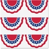 "Teacher Created Resources Patriotic Bunting Accents - 4"" Height x 7"" Width - White, Blue, Red - 30 / Pack"
