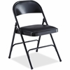 "Lorell Padded Seat Folding Chair - Vinyl Seat - Steel Powder Coated Frame - 19.4"" Width x 18.3"" Depth x 29.6"" Height"