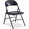 "Lorell Folding Chair - Steel Powder Coated Frame - Black - 19.4"" Width x 18.3"" Depth x 29.6"" Height"