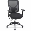 "Lorell Multi-task Control Mesh Back Chair - Fabric Black, Foam Seat - Nylon Back - 5-star Base - Black - 28.3"" Width x 26.3"" Depth x 42"" Height"