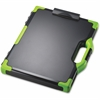 """OIC Clipboard Box - Storage for Tablet, Notebook - 8.50"""", 8.50"""" x 11"""", 14"""" - Black, Green"""