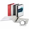 """Business Source Ring Binder - 1"""" Binder Capacity - Round Ring Fastener - 2 Internal Pocket(s) - Red"""