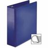 "Business Source Ring Binder - 3"" Binder Capacity - Slant D-Ring Fastener - Internal Pocket(s) - Navy"