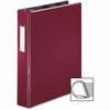 "Business Source Ring Binder - 1 1/2"" Binder Capacity - 375 Sheet Capacity - Slant D-Ring Fastener - Internal Pocket(s) - Burgundy"