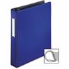 "Business Source Ring Binder - 1 1/2"" Binder Capacity - 375 Sheet Capacity - Slant D-Ring Fastener - Internal Pocket(s) - Blue"