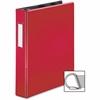 "Business Source Ring Binder - 1 1/2"" Binder Capacity - 375 Sheet Capacity - Slant D-Ring Fastener - Internal Pocket(s) - Red"