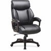 "Lorell Executive Chair - Bonded Leather Black Seat - Bonded Leather Black Back - Espresso - 31.8"" Width x 28"" Depth x 45.5"" Height"