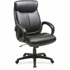 "Lorell Executive Chair - Black - Bonded Leather - 28"" Width x 31.8"" Depth x 45.5"" Height"