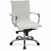 "Lorell Modern Management Chair - Bonded Leather Seat - Bonded Leather Back - 5-star Base - White - 20"" Seat Width - 24.8"" Width x 25"" Depth x 39.4"" Height"