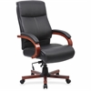 "Lorell Executive Chair - Black, Mahogany - 27"" Width x 31"" Depth x 47"" Height"