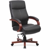 "Lorell Executive Chair - Black, Cherry - 27"" Width x 31"" Depth x 47"" Height"
