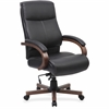 "Lorell Executive Chair - Black, Walnut - 27"" Width x 31"" Depth x 47"" Height"