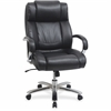 "Lorell Big and Tall Leather Chair with UltraCoil Comfort - Black - 30.3"" Width x 22.9"" Depth x 45.8"" Height"