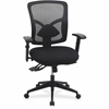 "Lorell Management Chair - Black - 33.5"" Width x 23.6"" Depth x 18.9"" Height"