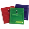 Oxford Poly Pocket Binder Envelopes - 150 Sheet Capacity - Poly - Assorted - 3 / Pack